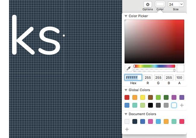colour preferences in Sketch