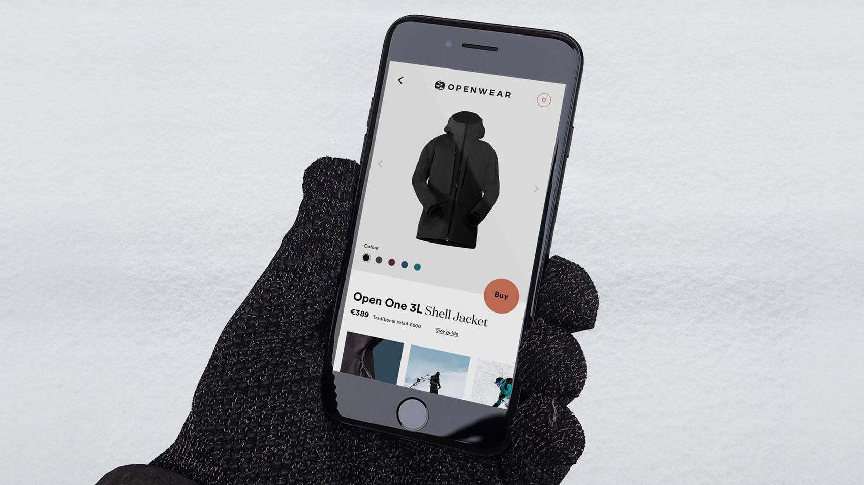 shoppable community for Open Wear: person on phone