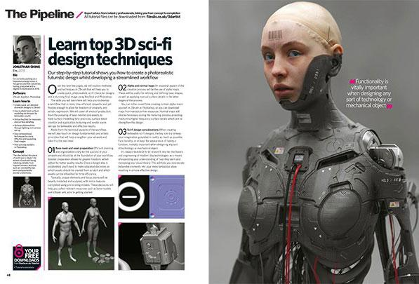 spread from 3D Artist