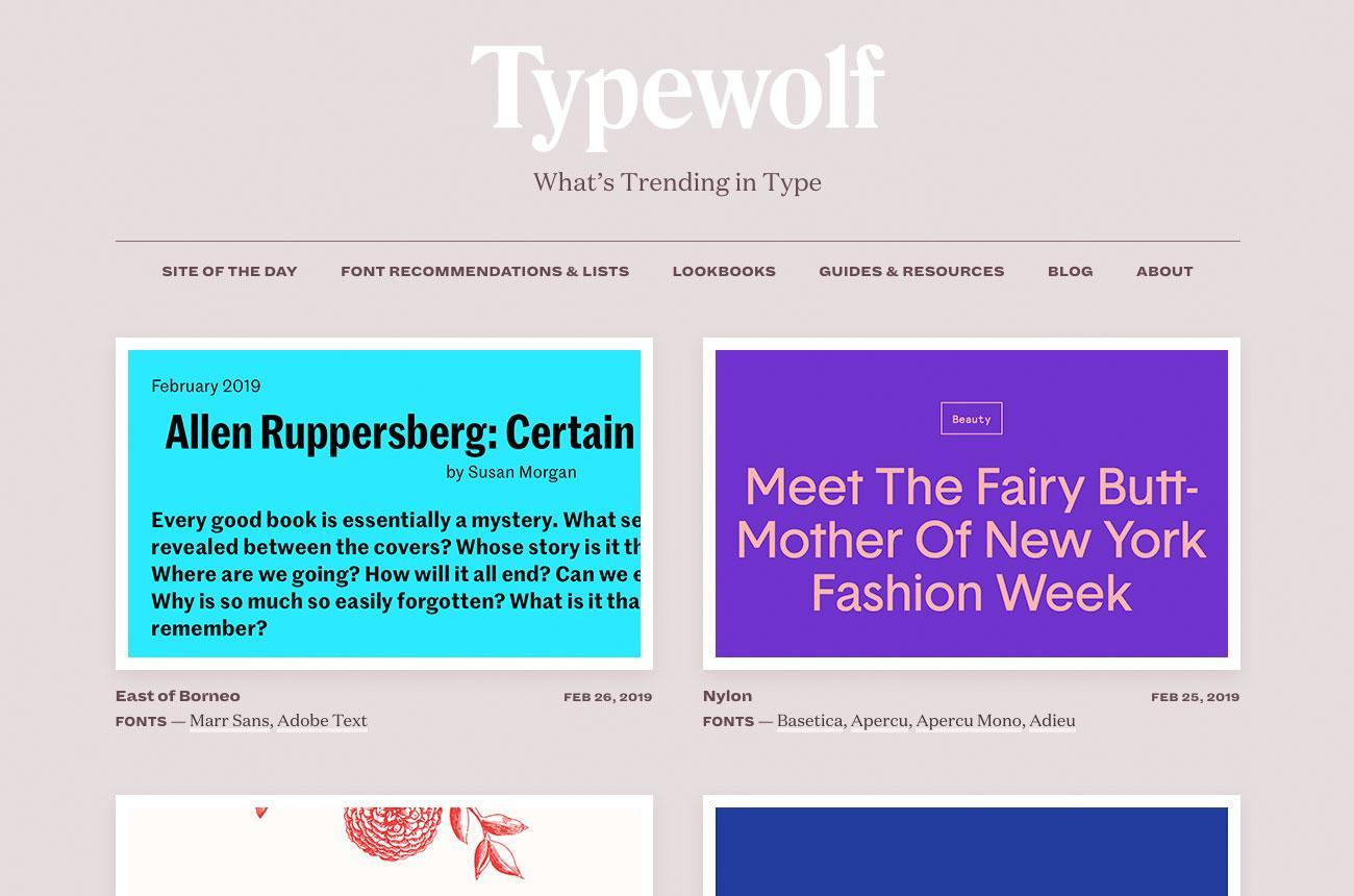 Top typography resources: Typewolf