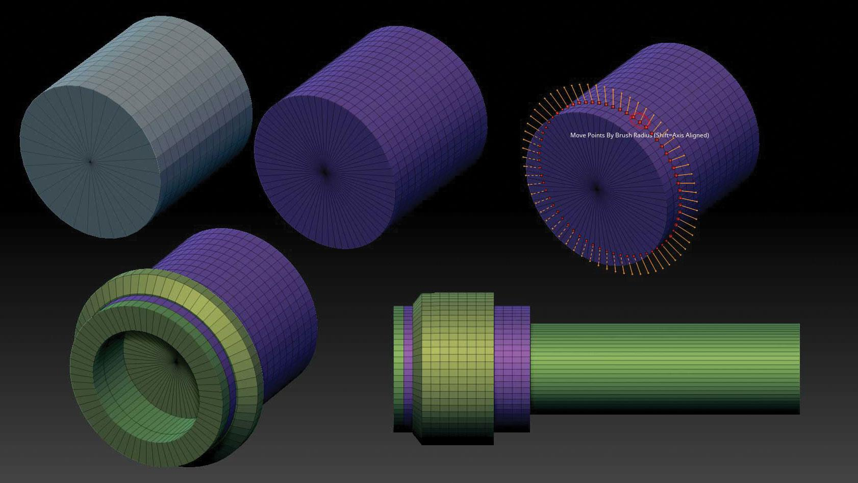 Cylinder3D jet engine 3D models