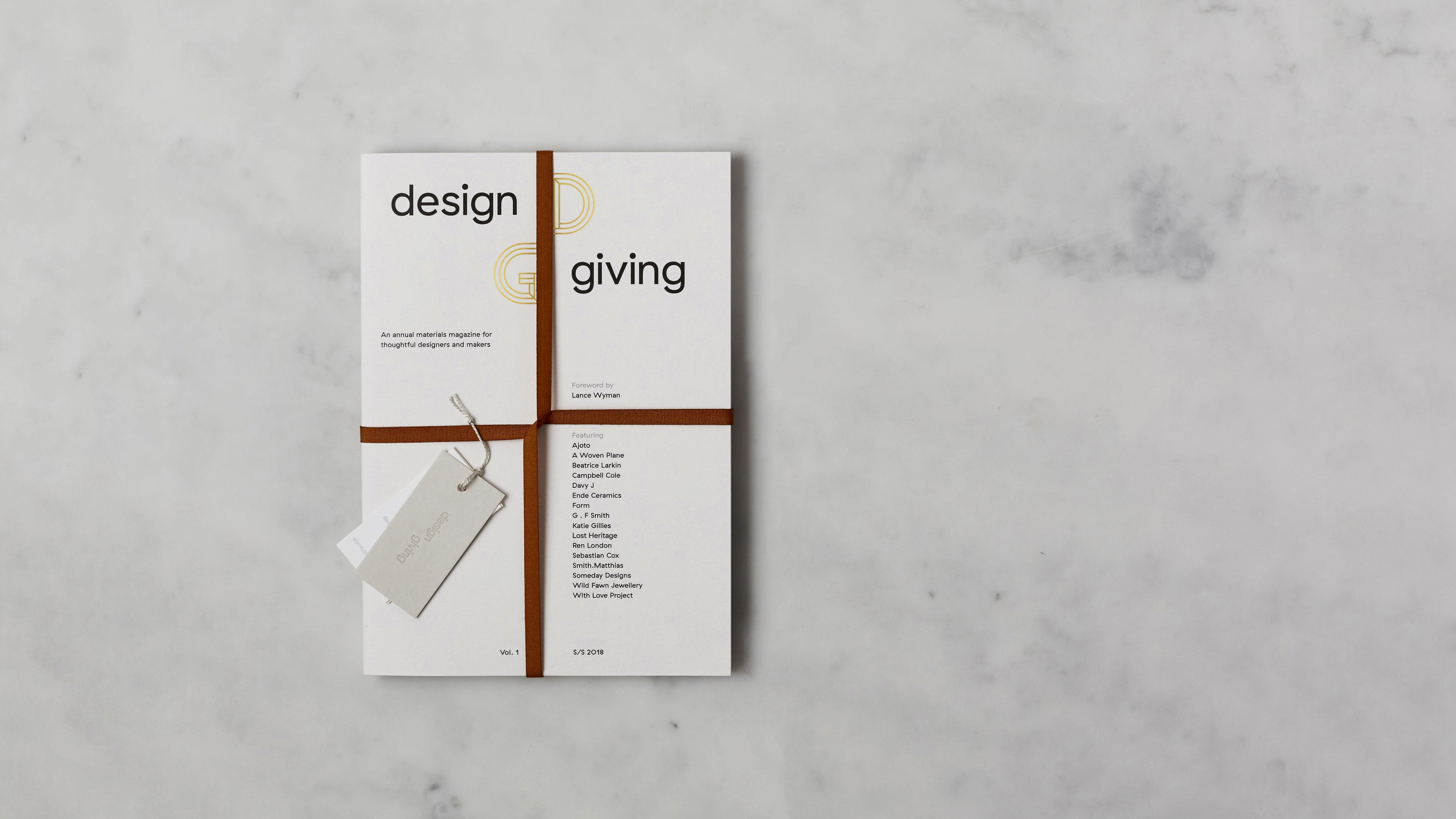 design giving magazine