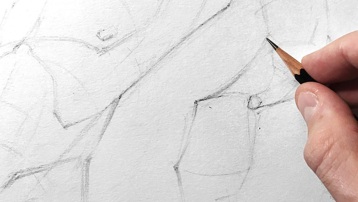 Improve your line work: pencilling the structure