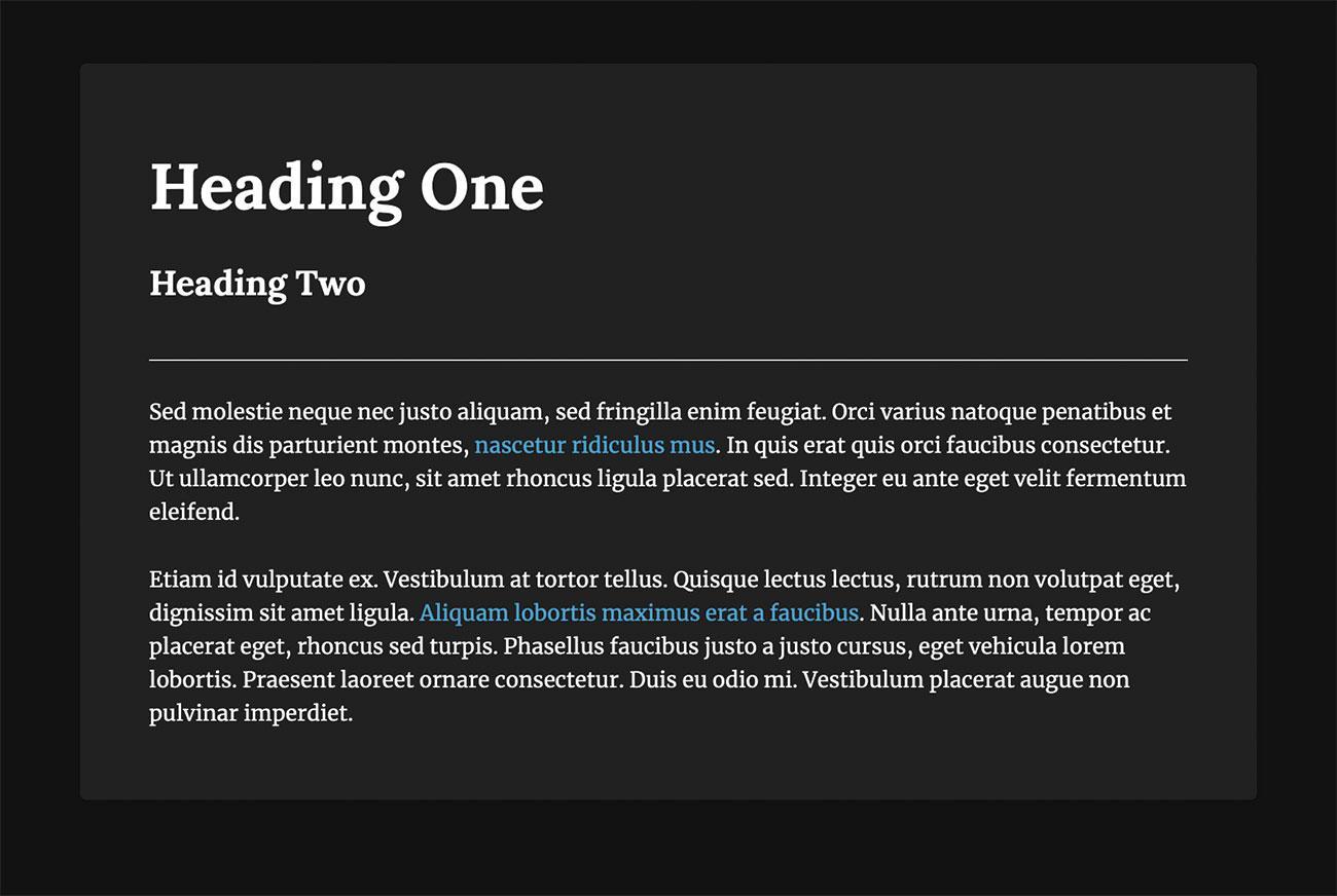 CSS light and dark: override styles