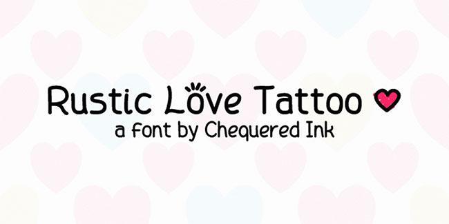 Tattoo fonts: Rustic Love Tattoo