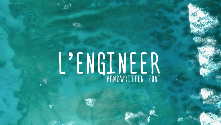 Free handwriting fonts: L'Engineer