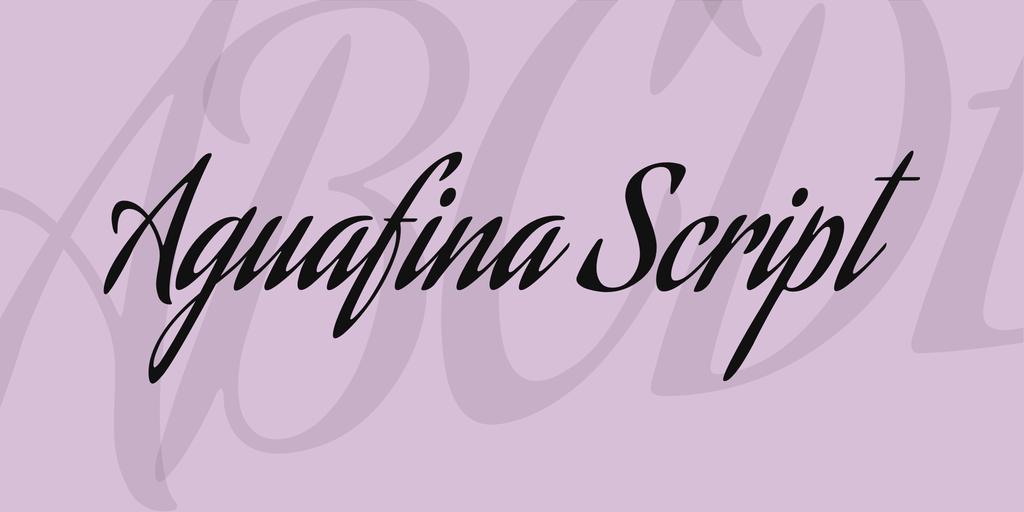 Aguafina Script Regular cursive script