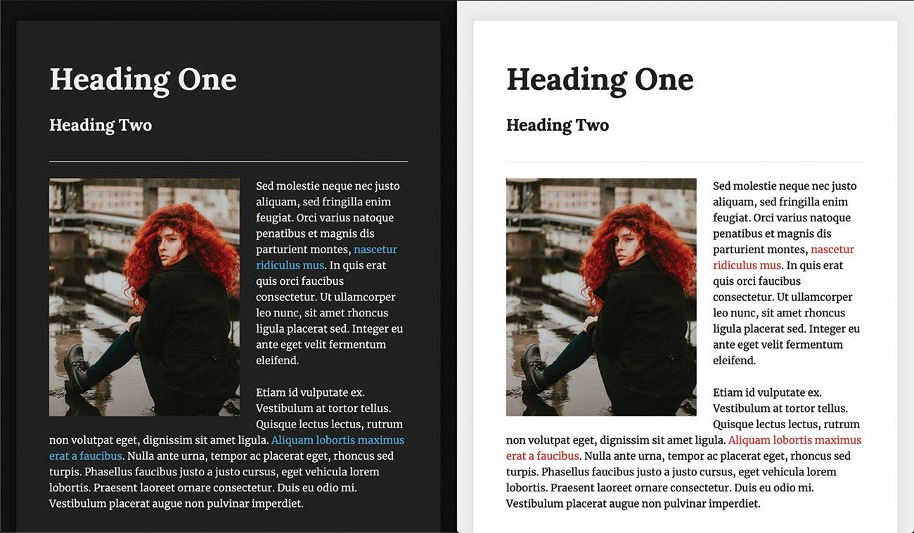 CSS light and dark: images