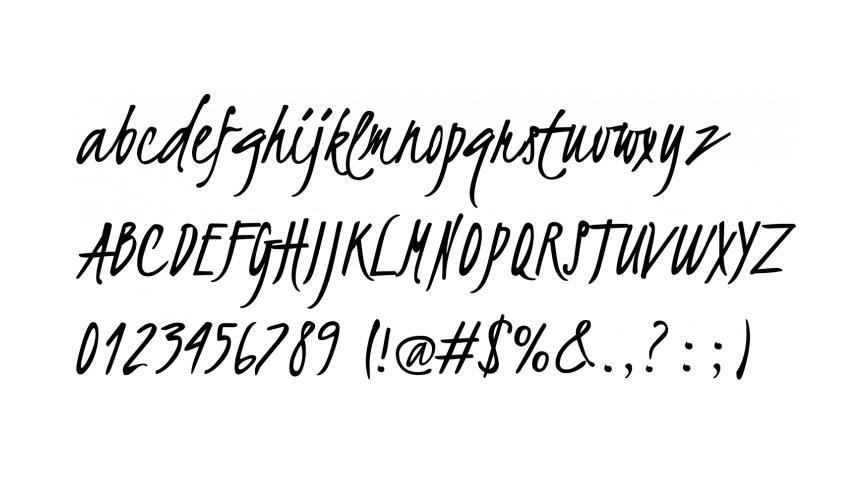 Free handwriting fonts: Kristi