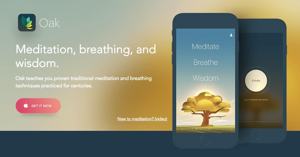 Oak - Meditation & Breathing app