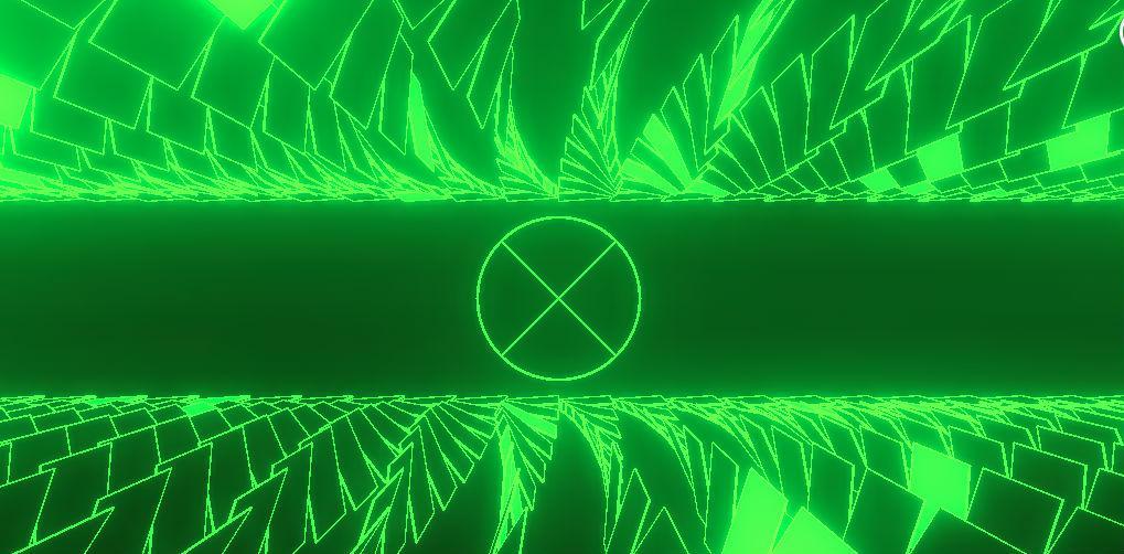 Bright green geometric pattern
