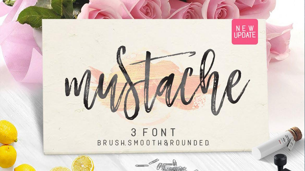 Sample of Mustache font
