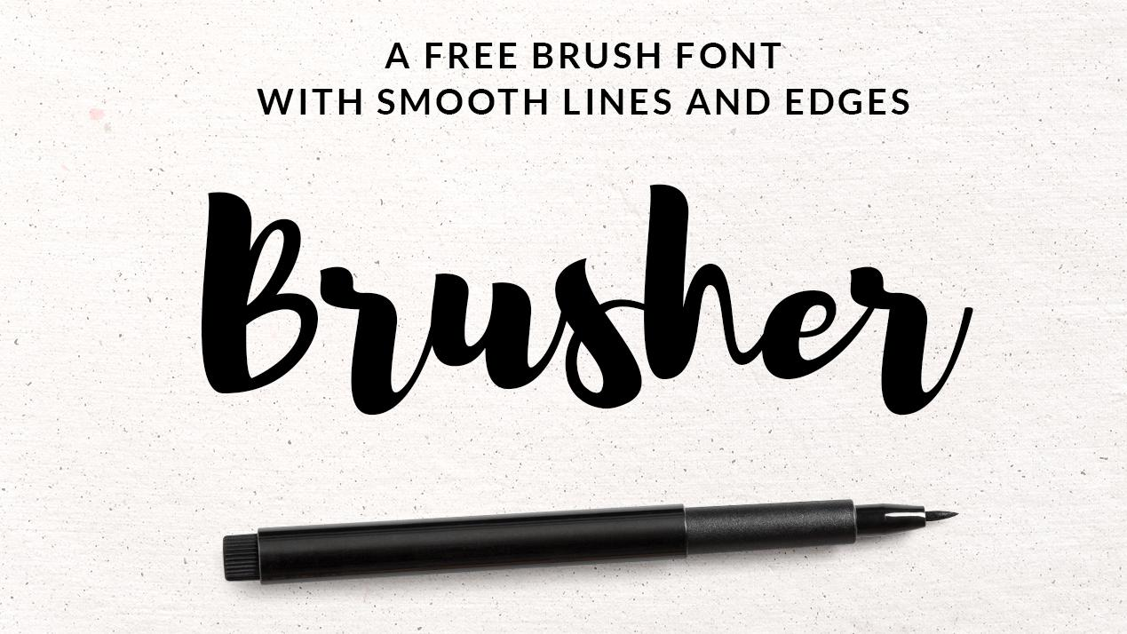 Brusher free brush font