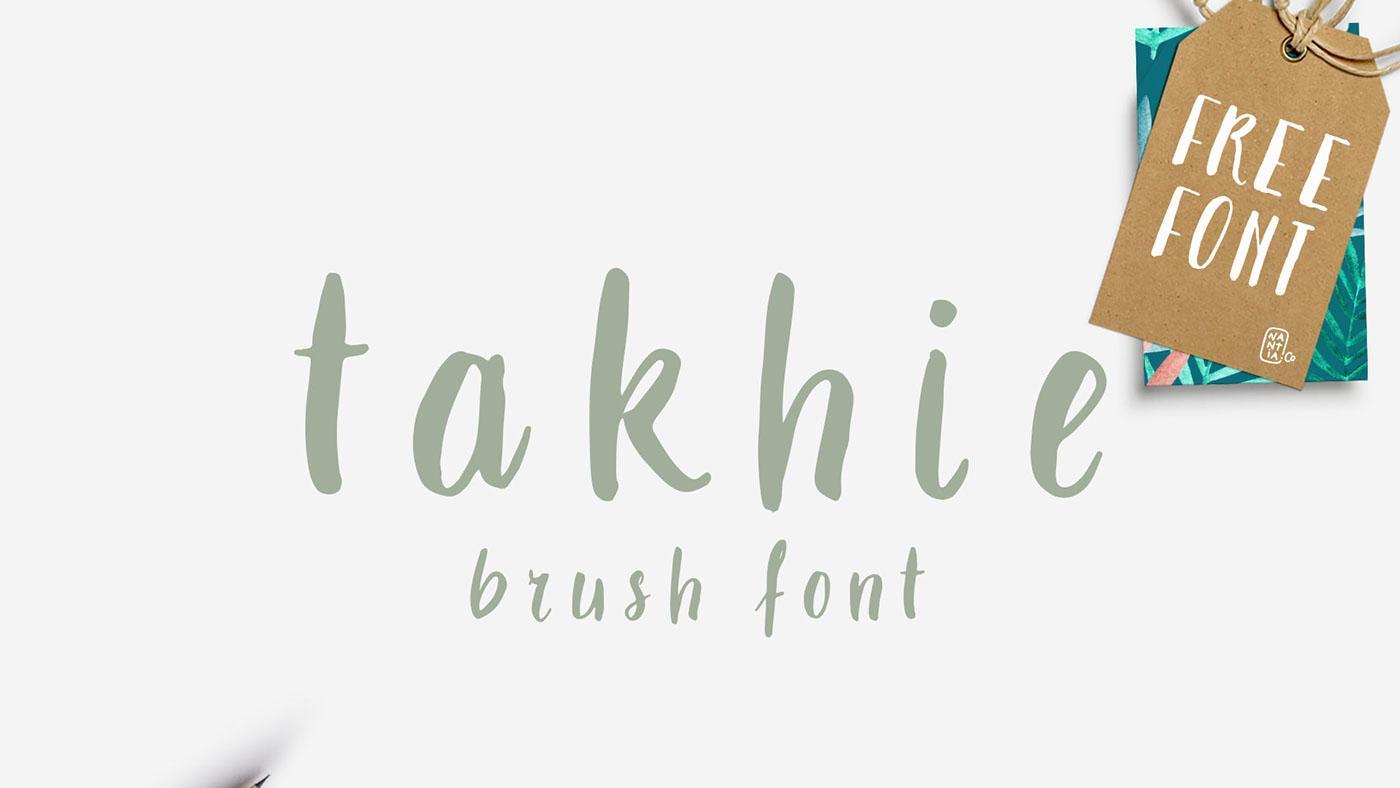 Free brush font: Takhie