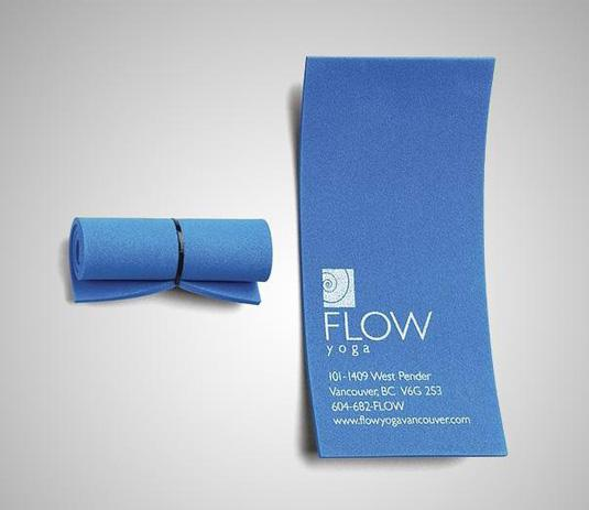 Business cards: Flow Yoga