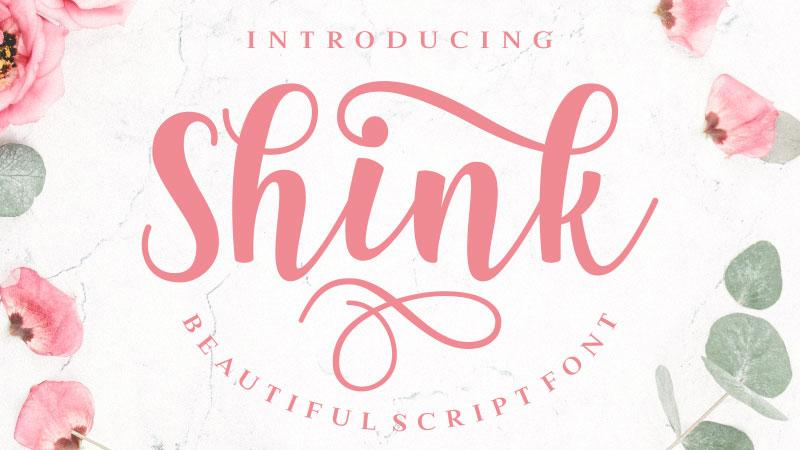 Shink script font