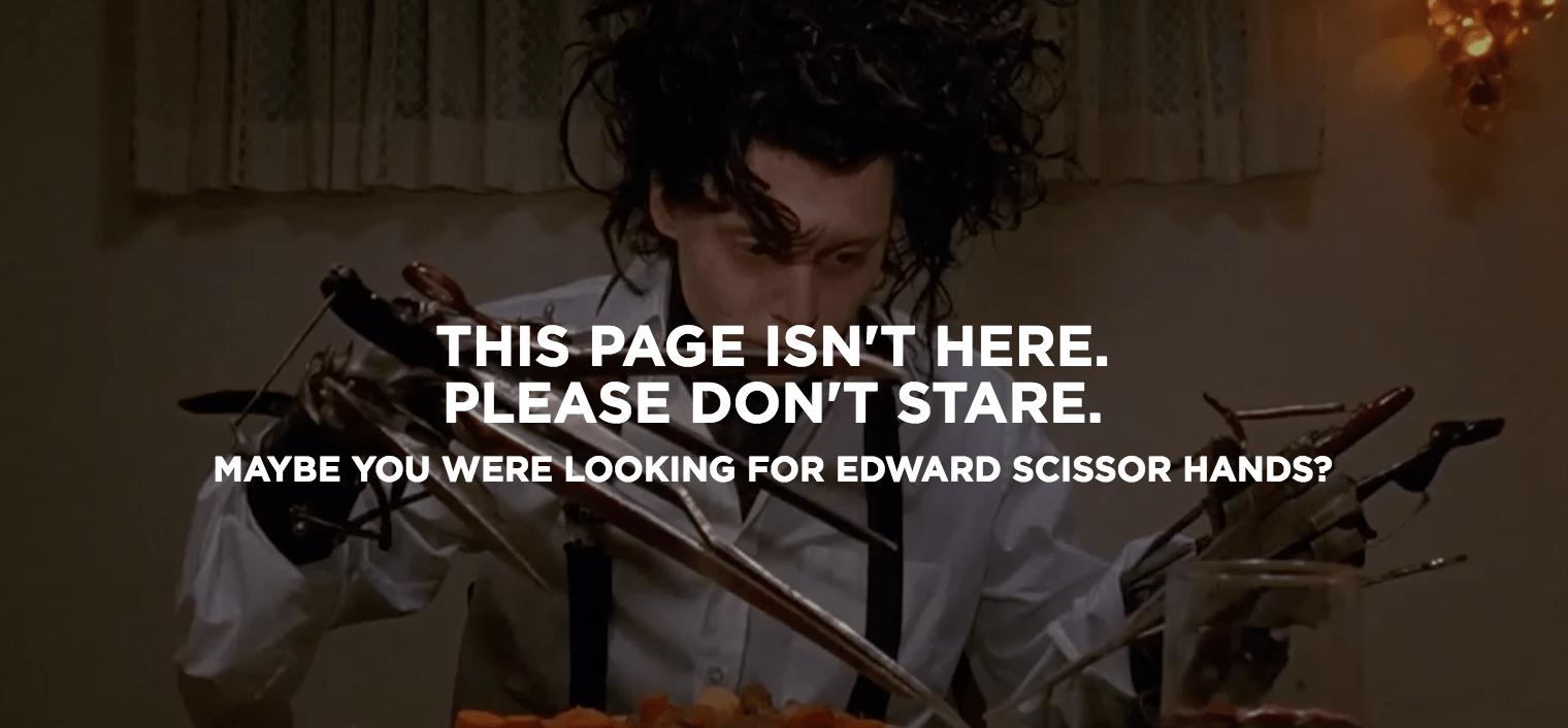 20th Century Fox 404 page