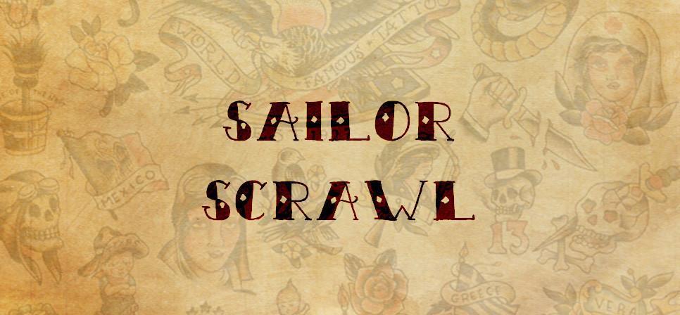 Tattoo fonts: Sailor Scrawl