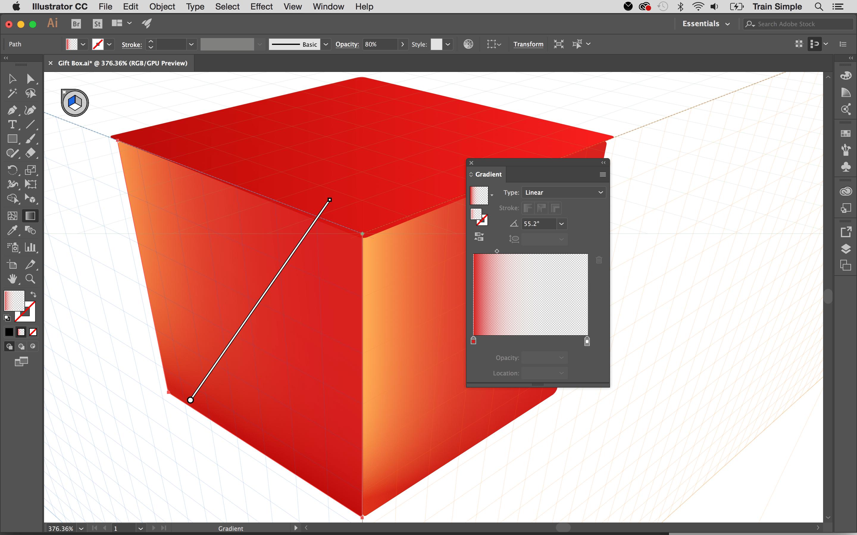 Art in perspective: gradient on lid