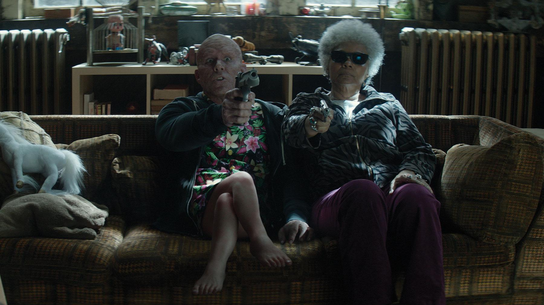 baby legs in Deadpool 2 scene