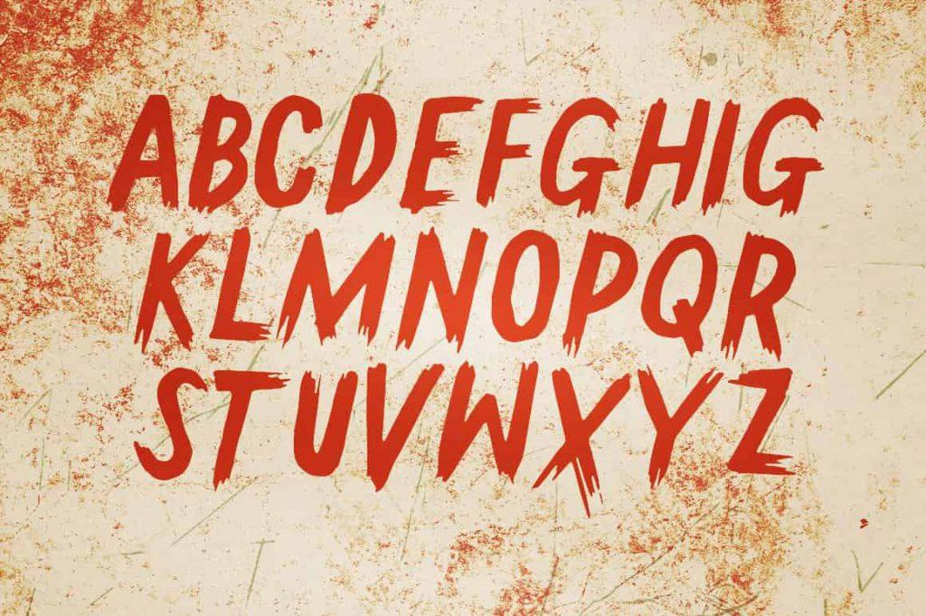 Gallows tree alphabet
