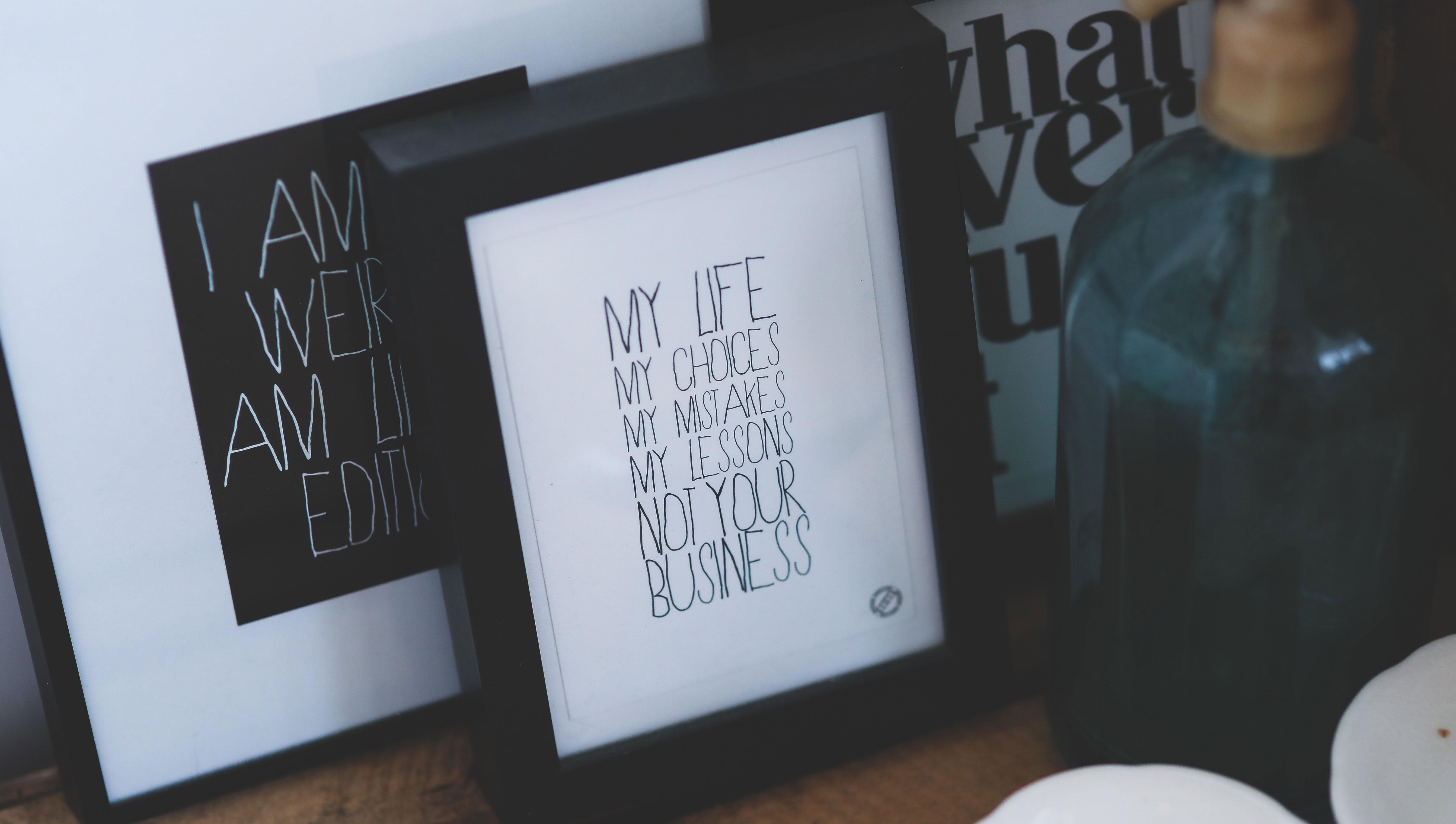type on prints